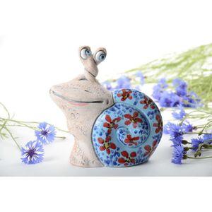 TIRELIRE Tirelire en céramique peinte de pigments faite mai