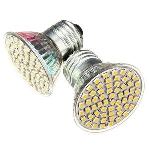 AMPOULE - LED U E27 Ampoule 3528 SMD 60 LED Spot Maison Blanc