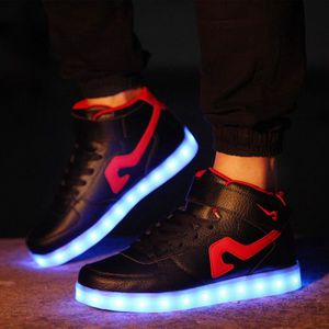 Performance Chaussures USB Charge 7 couleurs Glow LED Lighting chaussures femme et homme Chaussures Bright Light Sport Chaussures de wYYRRaU