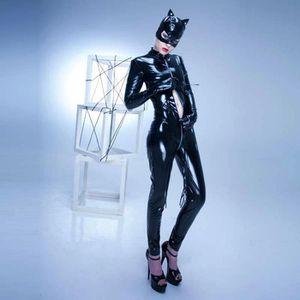 COLLANT Top Qualité Halloween Catwoman Catsuit Zipper Ouve