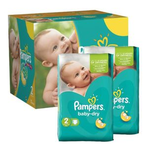 COUCHE 184 Couches Pampers Baby Dry taille 2