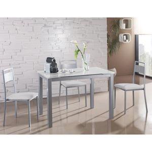 bb6885f5c6d168 TABLE À MANGER SEULE Table à manger extensible en métal et verre colori. ‹›