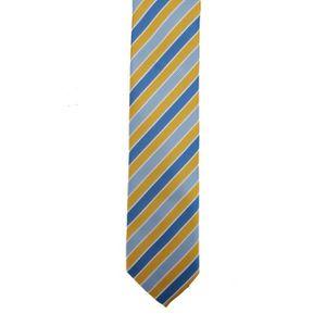 CRAVATE - NŒUD PAPILLON Premier - Cravate rayée - Homme TU Bleu roi/or
