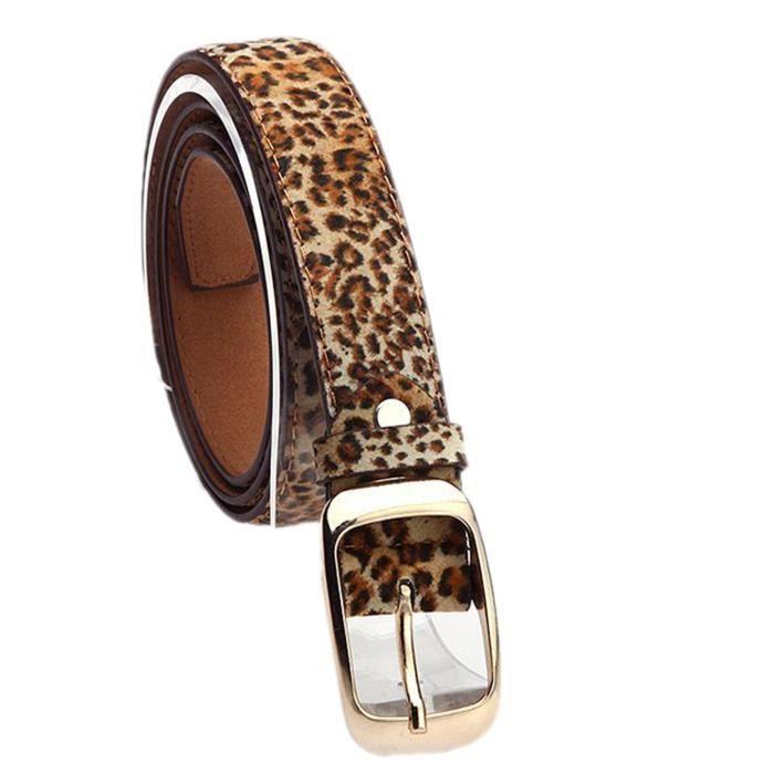 Ceinture femme métalliques accessoires de mode(couleur léopard) Noir -  Achat   Vente ceinture et boucle 2009833850644 - Cdiscount 9a8aa8ec960