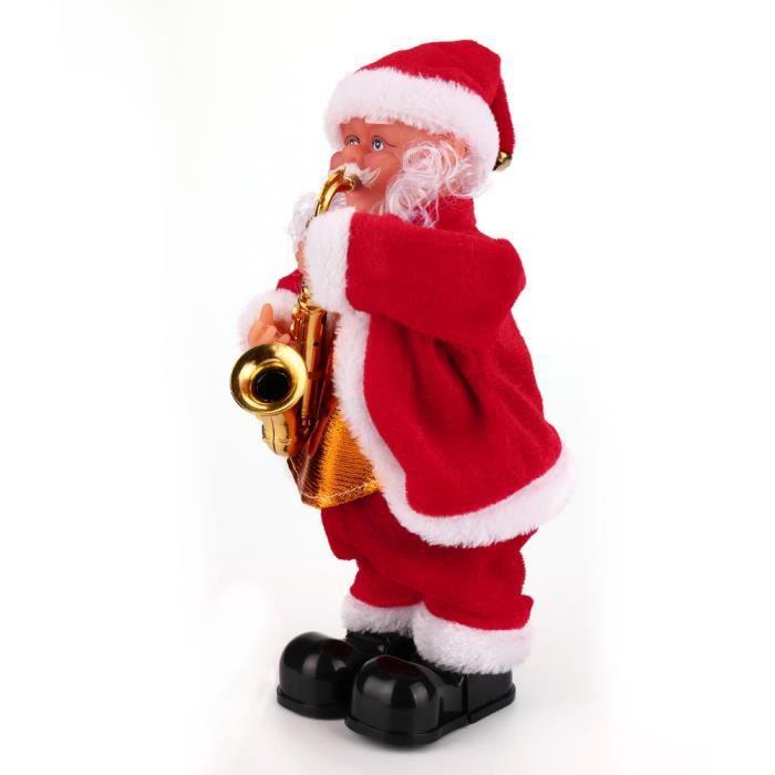 Tonsee®Père Noël Bébé peluche molle chantant en peluche poupée animée cadeau de Noël  DYY71011864C