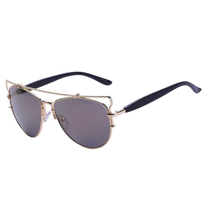 lunettes mode rétro voyage aviateur de Femmes soleil hommes unisexe Vintage de lunettes dore miroir qHXxtnwS