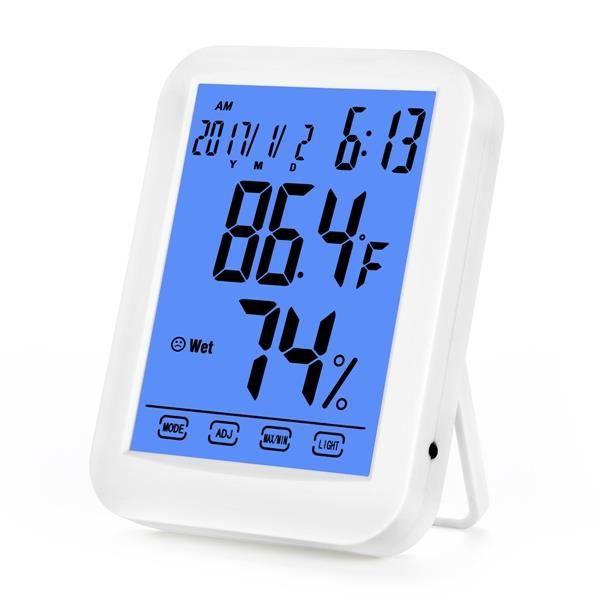 Royal K Reveil Led Numérique Lcd Hygromètre Thermomètre Température Humidité Compteur