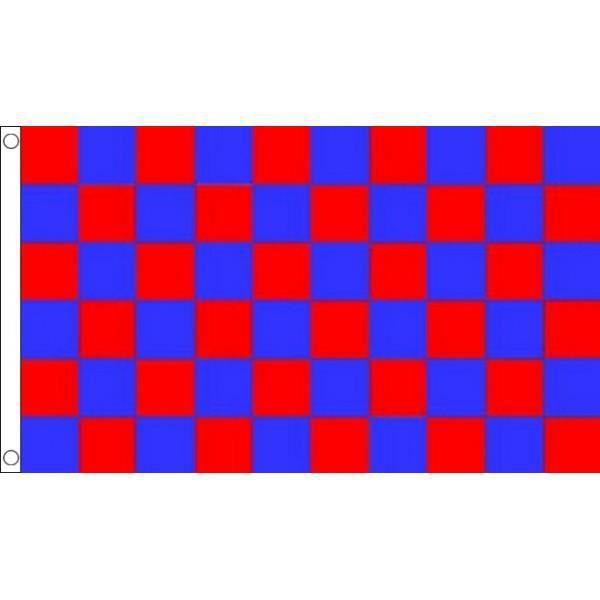 drapeau damier rouge et bleu 150x90cm damie achat vente drapeau d coratif polyester. Black Bedroom Furniture Sets. Home Design Ideas