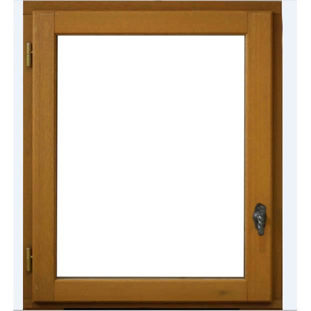 Fenêtre 1 Vantail Tirant Gauche H75 X L80 Cm Bois Exotique