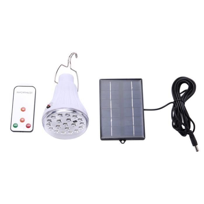 381b48780ebe3 Énergie solaire LED ampoule avec panneau solaire Télécommande ...