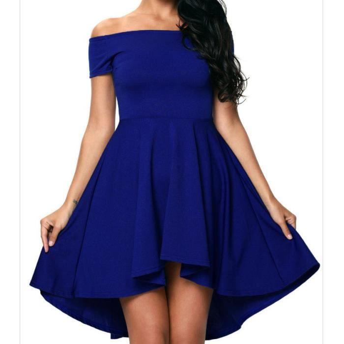 Robes de soiree courte bleu