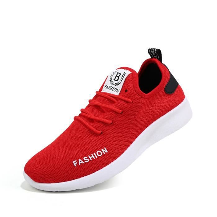 Baskets hommes Confortable Respirant Chaussures de sport 2018 nouvelle marque de luxe chaussure Antidérapant Plus Taille NX04Du2Z