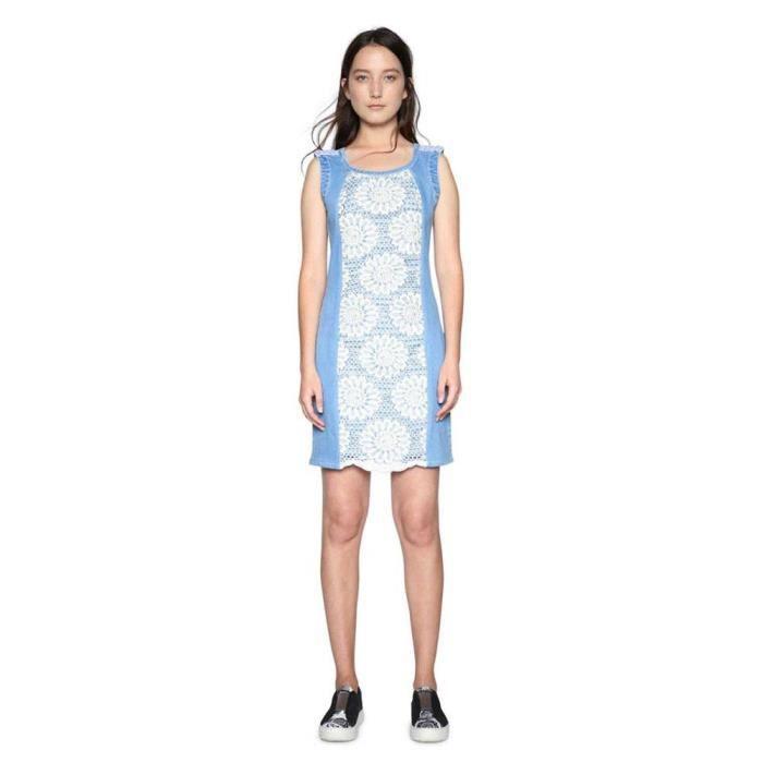 Achat Vêtements Desigual Robes Blanc Agatho Multicoloured Femme xwwHSzqA