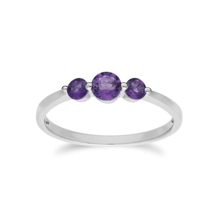 056efeecfd851 Bague argent et pierre violette - Achat / Vente pas cher