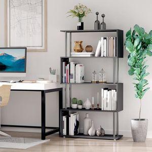 meuble etagere noir achat vente meuble etagere noir pas cher cdiscount. Black Bedroom Furniture Sets. Home Design Ideas