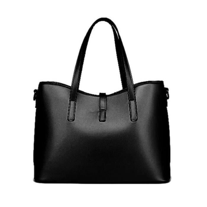 Mode Pu Sac à main en cuir + sac à bandoulière + sac + porte-cartes 4pcs Set fourre-tout X7LYO