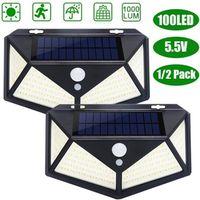 APPLIQUE EXTÉRIEURE TEMPSA 2 Pcs Lampe solaire 100 LED détecteur de mo