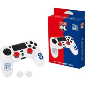STICKER - SKIN CONSOLE Kit pour manette PS4 Subsonic blanc OL n°8