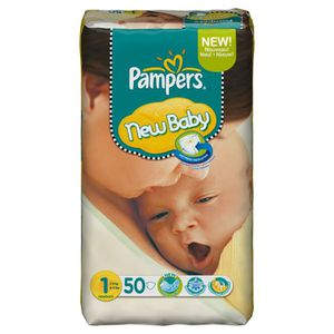 COUCHE PAMPERS New Baby - 2 à 5 Kgs - X50 (x1)