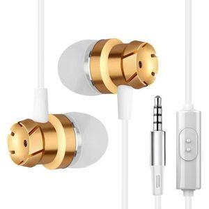 CASQUE - ÉCOUTEURS Écouteur Filaire In Ear avec Microphone OR