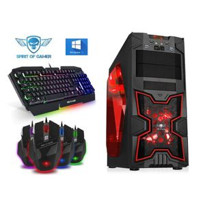UNITÉ CENTRALE  PC Gamer X-FIGHTERS Red - A4-6300 - 8GO RAM - HDD