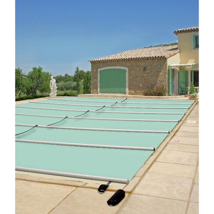 Couverture à barres pour piscine bois 8x4 m