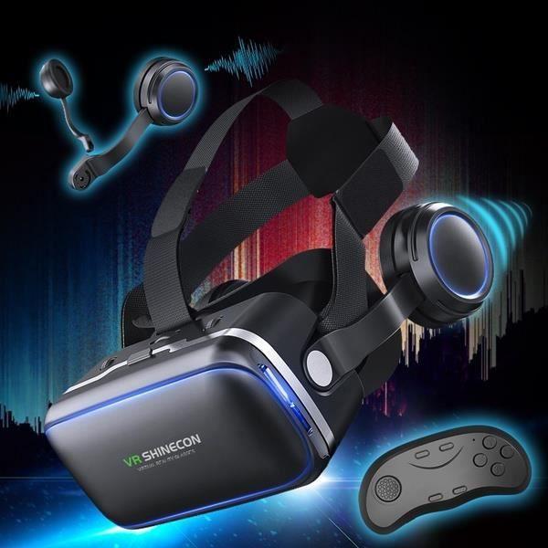 Original VR shinecon 6.0 casque version lunettes de réalité virtuelle 3D  lunettes casque casques smartphone package Complet + contrô 8c63ddcf768e