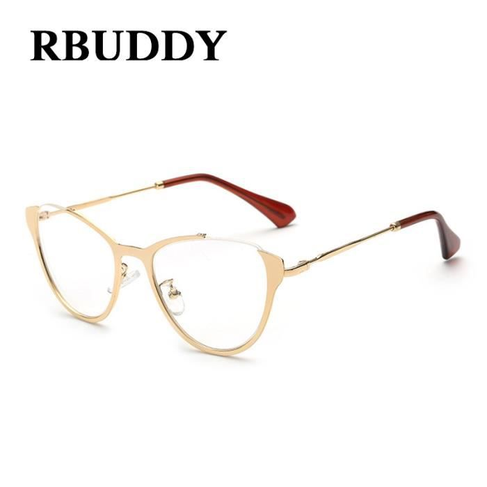 RBUDDY ordinateur lunettes femmes Cat eye Gold Frame Lunettes femmes Lunettes à lentilles Lunettes transparent Faux optique 2017