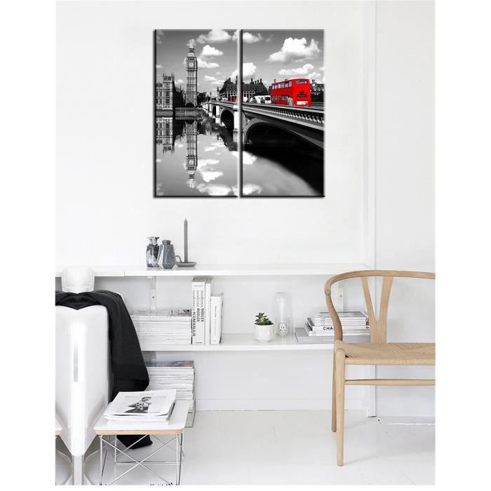 Non Encadrée Photo Murale Décoration Intérieure Peinture En Noir Et Blanc Peinture Moderne Ville Peinture Modulaire