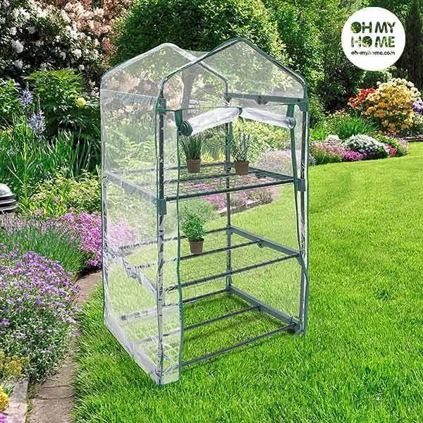 Petite Serre de Jardin à étagère pour Plante, Semis et Germination en  Plastique transparent – Serre de jardin exterieur ou interieur
