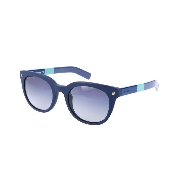 Dsquared2 - DQ0208 Bleu - Achat   Vente lunettes de soleil Femme ... fcea08fedcc4