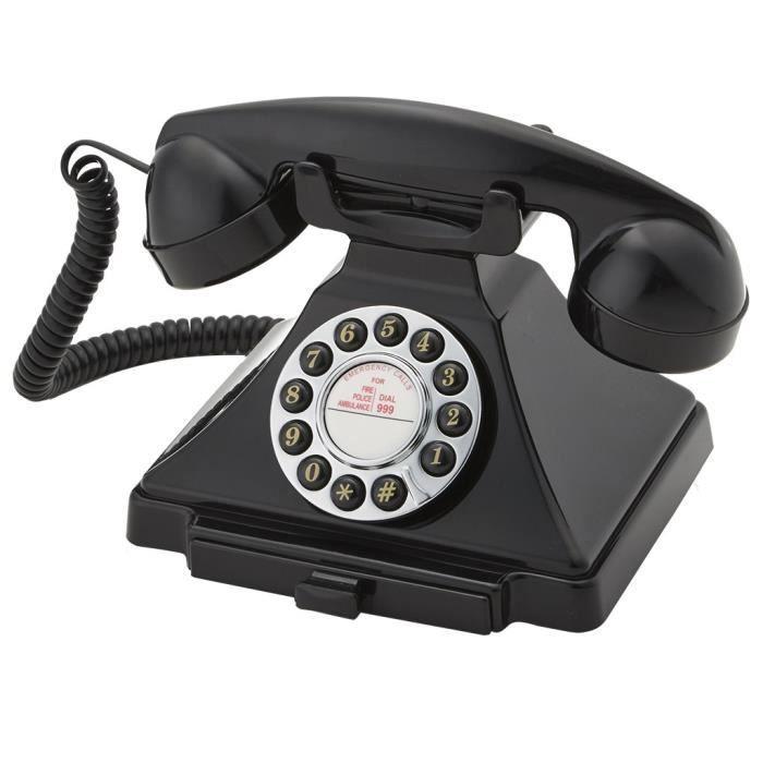 Home Decor - Telephone Retro Vintage 20s Noire - 40107MD - Achat ... 9cef30d951be