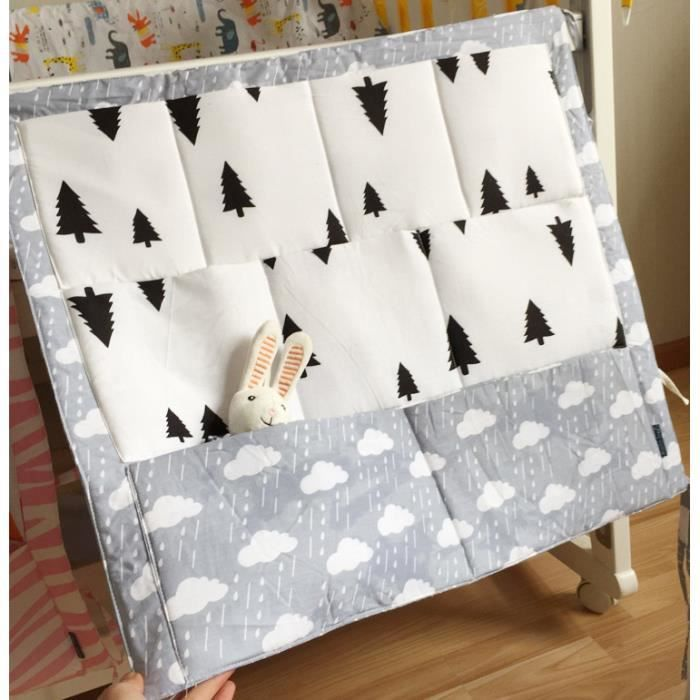 mcsays sacs de rangement pour lit de b b sac organisateur de jouets couches suspendu blanc. Black Bedroom Furniture Sets. Home Design Ideas