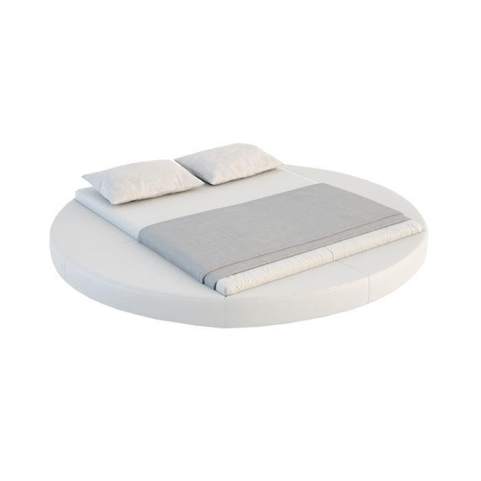 Lit Rond Design Anator Avec Sommier X Cm Achat Vente - Lit rond 160x200