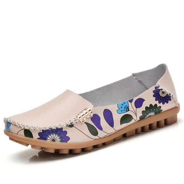 Loafer Femme Plates Confortable Respirant Loafers Nouvelle Arrivee Meilleure Qualité Chaussure Durable Grande Taille 35-41 fJzsA