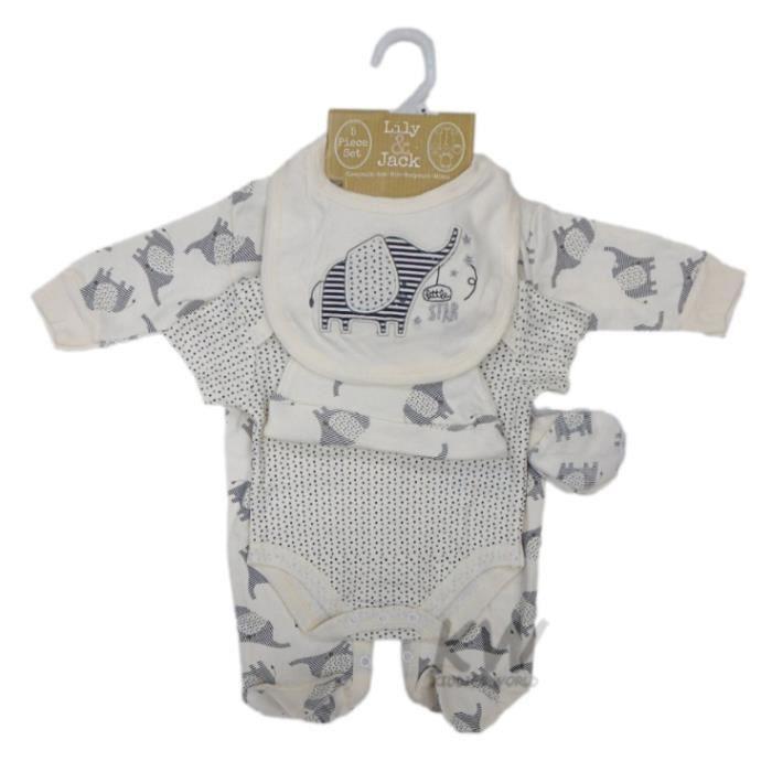 857113be2f6a6 Ensemble cadeau de naissance bébé mixte pyjama body bonnet bavoir moufles
