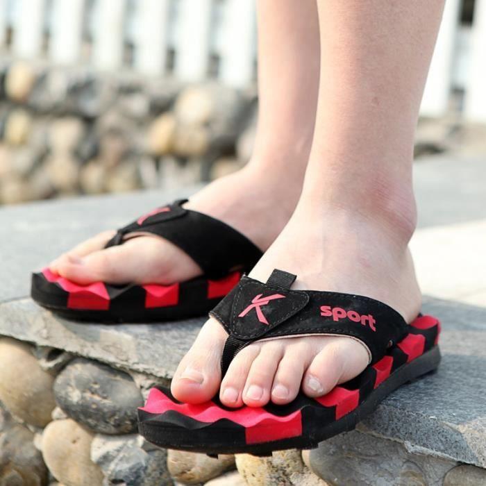 Summer Beach Hommes Slip-résistant Bascule Sandales Mode Hommes Casual Chaussures