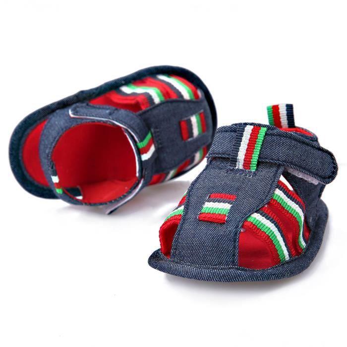 BOTTE Bébé Nourrissons Enfants Fille garçons Doux Sole Crib Toddler Nouveau-Né Sandales Chaussures@Bleu foncéHM