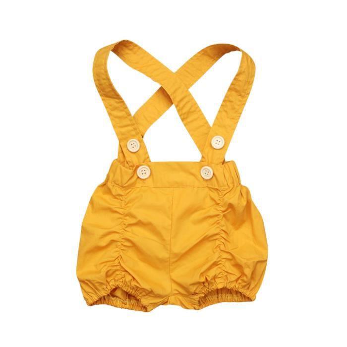 89a89478cabf2 Bébé Enfant Fille Short à Bretelles Salopette Short Vêtement Été Mode