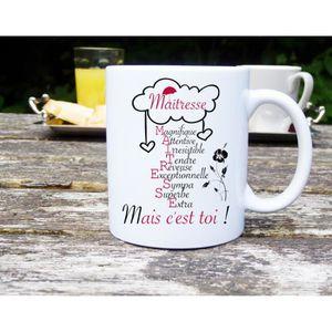 mug maitresse achat vente mug maitresse pas cher soldes d s le 10 janvier cdiscount. Black Bedroom Furniture Sets. Home Design Ideas