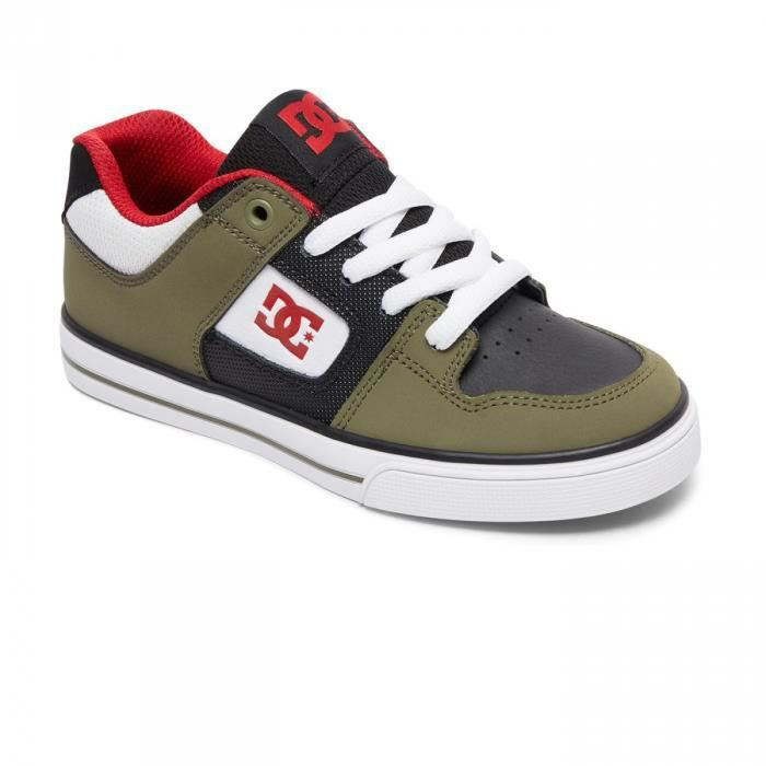 Chaussures Enfant Pure B Olive Black- DC Shoes
