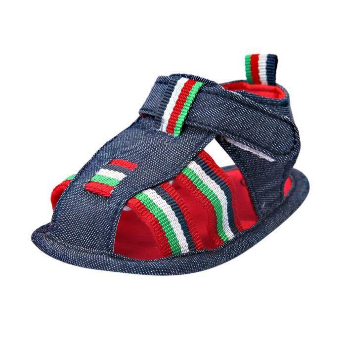 BOTTE Bébé Nourrissons Enfants Fille garçons Doux Sole Crib Toddler Nouveau-Né Sandales Chaussures@Bleu foncéHM aN4A7x