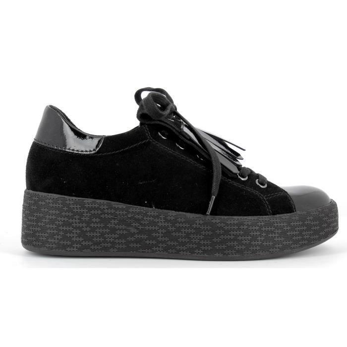 Sneakers en cuir compensé Femme - 23722-29