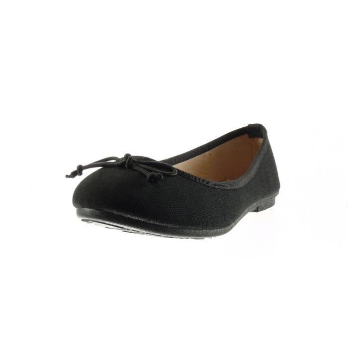 Noeud Slip 89 Noir 883 Mode Cm Femme Trss Ballerine 1 on Chaussure Angkorly Plat Talon xtHwfnqYC6