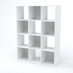 PETIT MEUBLE RANGEMENT  COMPO Meuble de rangement contemporain blanc mat -
