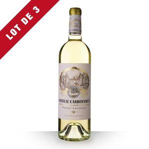 VIN BLANC 3X Château Carbonnieux 2014 Blanc 75cl AOC Pessac-
