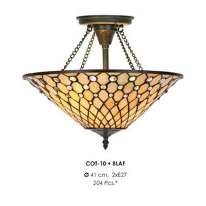 LAMPE A POSER Casa Padrino Tiffany Ceiling Lamp 41 cm - Glass mo