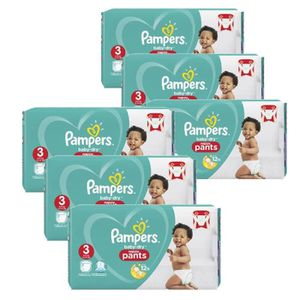 COUCHE Maxi Pack 260 Couches Pampers Baby Dry Pants taill