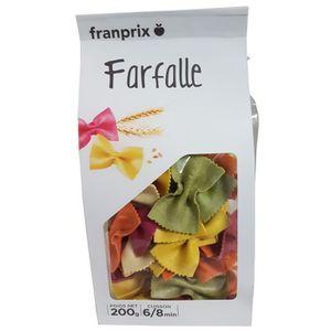 PÂTES ALIMENTAIRES FRANPRIX Farfalles Colorées 200 g
