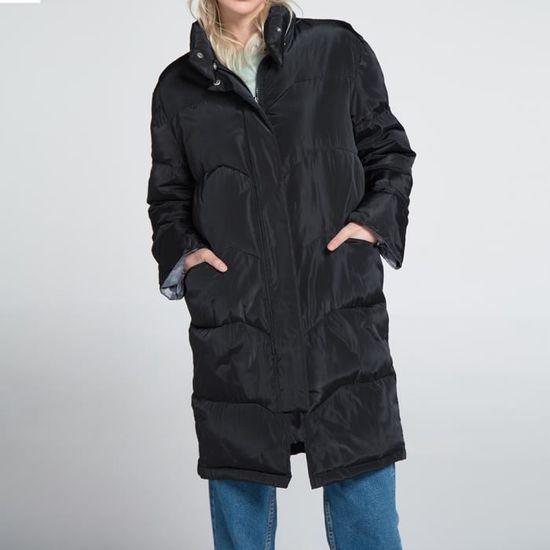 Slim Manteau Womens Parka Col Outwear Veste Capuche D'hiver Long À xZqgHY